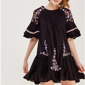 Free People Pavlo Embroidered shift dress NWT